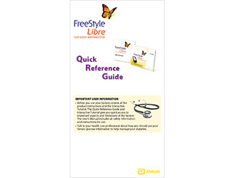 FreeStyle Libre quick reference guide
